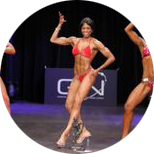 Rachel Competing British Natural Bodybuilding Federation