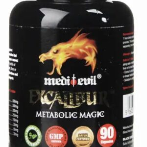 A picture of the Fat Burner product sold at MG Nutrition by Med-evil nutrition. Black bottle